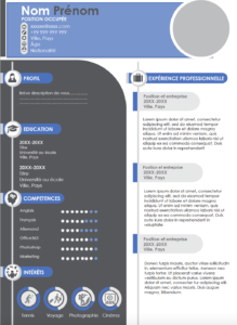 un modele de CV different en format powerpoint et super elegant et moderne