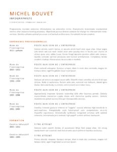 modele cv créativité orange gris FR
