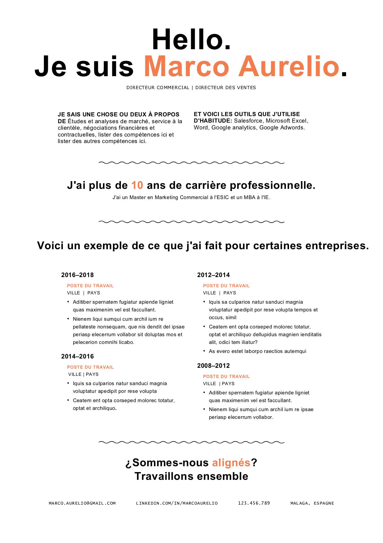 modele de cv avec storytelling
