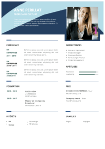 modele cv gratis en format word pour RH