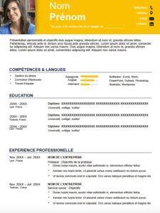 modele de cv pour stage d'un etudiant universitaire
