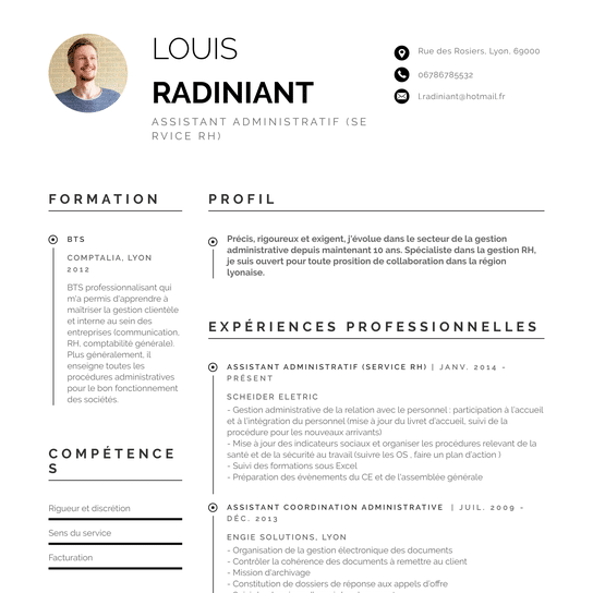 CV Adminsitratif