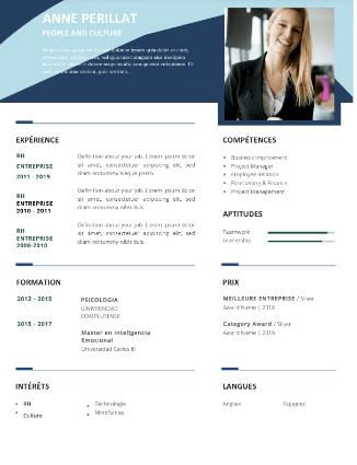 Modèle CV commercial