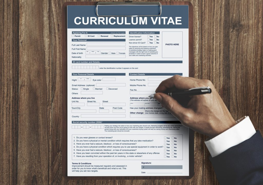 rédiger un CV Alternance