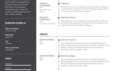 Guide de rédaction CV de vétérinaire + Modèles à télécharger