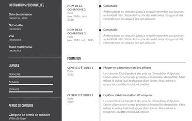 Exemple de CV reconversion professionnelle